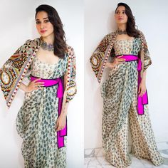 10 Ideas Celebrities Inspired to Wear Traditional Saree with a Modern Twist - Tikli.in- Fashion and Beauty Trends, Designer Collections, Exclusive Deals, Bollywood Style and Saree Gown, Lehenga, Anarkali, Sari, Indian Fashion Modern, Traditional Fashion, African Fashion Designers, Indian Designer Outfits, Indian Designers