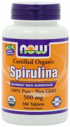 Amazon.com: NOW Foods Organic Spirulina 500mg Tablets, 180 Tablets: Health & Personal Care
