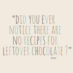 Leftover Chocolate?