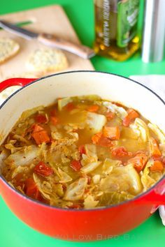 Light and Healthy Cabbage Soup (with Easy Cheese Toasts)