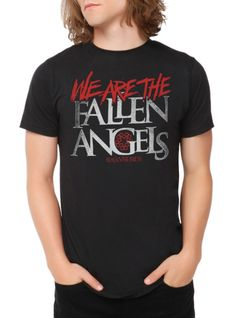 "Black+T-shirt+from+Black+Veil+Brides+with+a+""""We+Are+The+Fallen+Angels""""+design+on+front."