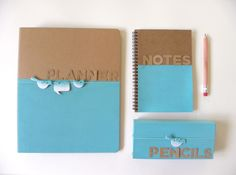 Why should only kids have all the fun with back to school supplies? DIY Binder,  Notebook and pencil case. Kraftmint.com