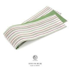 半幅帯 ブランド おび工房 桐生織 緑 グリーン 白 アイボリー 縞 ストライプ 本麻 夏向け 夏祭り 花火大会 女性帯 浴衣 細帯 半巾帯 日本製 仕立て上がり BiSOU(ビソウ)の商品詳細ページです。商品説明、画像、レビューも充実。ぜひ楽しいお買いものにお役立てください!- ファッション通販SHOPLIST(ショップリスト)