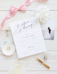 Marriage Certificate - Black