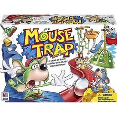 awesome NEW Mousetrap Board Hasbro Mouse Trap Kids Game Gift Family Free Shipping - For Sale