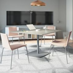 Infused with comfort and craft, Coalesse's Montara650 collection's sculpted seating pairs with simple pedestal tables, filling informal spaces with café-style character tailored the way you want it. #workcafe #interiordesign #officedesign #officefurniture #cosy Pedestal Tables, Work Cafe, Cafe Style, Cafe Chairs, Office Furniture, Cosy, Pairs, Contemporary, Interior Design