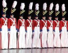 The Rockettes as toy soldiers in a Radio City Christmas Spectacular