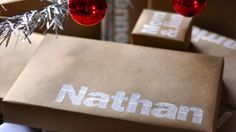 Cute wrapping paper idea!
