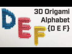 In this video, we showcase our modular origami stop-motion build of the letters D, E, F of the Alphabet. We folded 436 origami pieces to create this uniqu. 3d Letters, Letter D, Alphabet Letters, Modular Origami, Origami Art, Origami Letter, Paper Artwork, Art Base, Stop Motion