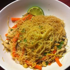 Vermicelli noodles with ginger, chicken and vegetables Recipe on Food52 recipe on Food52
