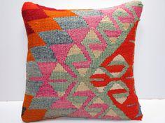 "MODERN Bohemian Home Decor,Handwoven Turkish Kelim Pillow Cover 16"" X 16"",Decorative Kilim Pillow,Vintage Rug Pillow,Throw Pillow on Etsy, $59.00"