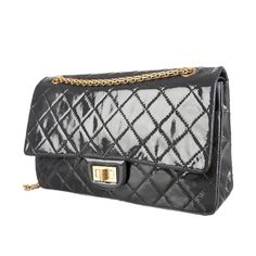 Chanel Patent 2.55 Reissue 227 Flap Gold tone hardware. Exterior pocket in back. Two interior slit pockets. Slit pocket under flap. Turn lock closure. Includes dust bag. CHANEL Bags Shoulder Bags
