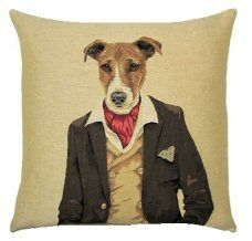 New Jack Russell Dandy Dog Belgian Tapestry Cushion