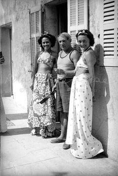 Ady Fidelin, Picasso and Nusch Éluard 1937