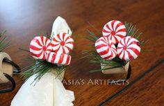 Winter Napkin Ring Christmas Napkin Ring by AnastasiasArtifacts