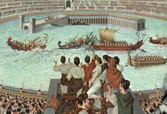 Sometimes as entertainment they would flood the Colosseum with water and have mock sea battles or react certain battles.