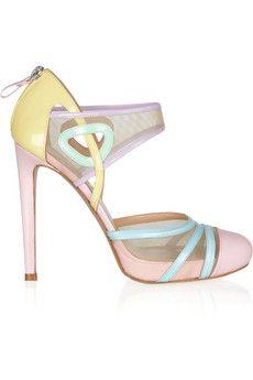 Versus - Love the pastel colours - bubblegum shoes!