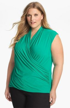 plus size wrap top fashion ideas for heavy and over 40