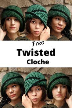 Never get stuck on a crochet pattern again! This Crochet vintage Cloche hat patten come with a free tutorial. Knitting PatternsCrochet For BeginnersCrochet BlanketCrochet Scarf # Easy Crochet Hat, Crochet Beanie Pattern, Unique Crochet, Double Crochet, Knit Crochet, Free Crochet Hat Patterns, Slouchy Beanie Pattern, Crochet Hat For Women, Bonnet Russe