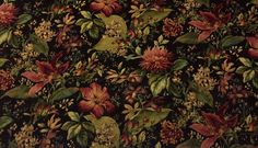 "MILL CREEK EMMANUELLE MIDNIGHT BLACK D4114 EMBOSSED FLORAL FABRIC BY YARD 54""W #SwavelleMillCreek"