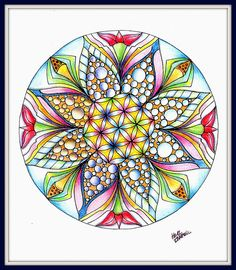 Seed of life-  pretty!!  Looks like a Kaleidoscope... love this!