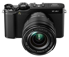 Fuji unveiled the Fujifilm X-A1($599+) , a brand-new entry-level mirrorless camera that uses a 16MP APS-C sensor. It powered by an EXR Processor II, which supports a sensitivity range of ISO 200 through 6400, with extended settings as high as 25600 available, and Fuji promises that the camera will shoot at burst speeds of up to 5.6 frames per second.