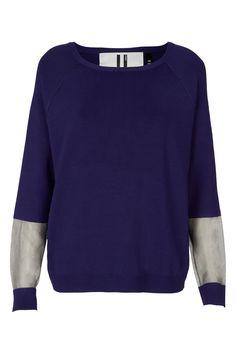 Sheer Panel Sweater