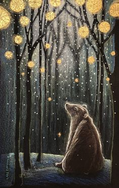 Mostly, but not limited to, nature-themed art and illustration. Header image by Jahna Vashti. Art And Illustration, Art D'ours, Art Sculpture, Inspiration Art, Bear Art, Jolie Photo, Whimsical Art, Woodland Art, Oeuvre D'art