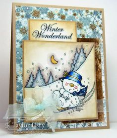 Sledging By by stagccva - Cards and Paper Crafts at Splitcoaststampers Christmas Paper Crafts, Diy Christmas Cards, Xmas Cards, Holiday Cards, Digi Stamps Free, Spectrum Noir Markers, Crafters Companion Cards, Winter Cards, Cards For Friends