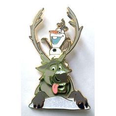 Disney Pin DSSH Soda Fountain Frozen - Olaf & Sven #Disney