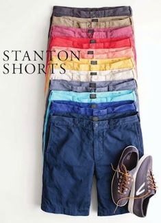 Crew size 32 Shorts at a discounted price at Poshmark. Description: Blue orange and green shorts. Summer Wear, Spring Summer Fashion, Look Fashion, Mens Fashion, Mens Clothing Styles, Dapper, Preppy, Men Casual, Menswear