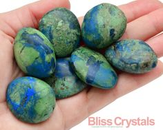 1 XL Azurite Malachite Tumbled Stone Crystal by BlissCrystals