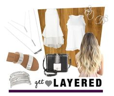 Get Layered by istyled on Polyvore featuring polyvore, fashion, style, Sacai, E L L E R Y, J.Crew, MCM, Uno de 50, Heather O'Connor, BaubleBar and clothing