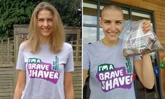 Isobel Pooley has head shaved for charity