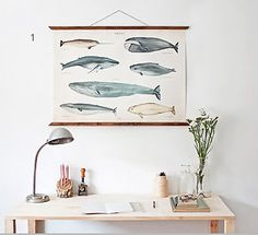 Whales A3 Canvas poster ARMINHO shop on Etsy