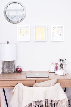Gorgeous office: http://www.stylemepretty.com/living/2015/06/15/fashionable-hostess-home-tour/ | Photography: Fashionable Hostess - http://www.fashionablehostess.com/