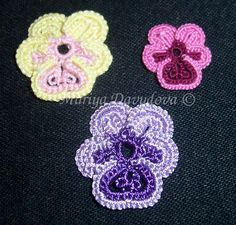 Mariya's Tatting: Free Patterns Pansies