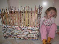 Elina designs: Pletenie z papiera...Papír fonás