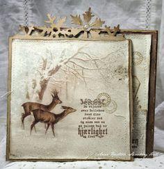 Интересный вариант оформления рождественской открытки