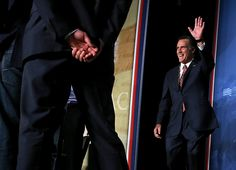105 10/4/12 Republican presidential candidate, former Massachusetts Gov. Mitt Romney waves to supporters during the regional Conservative Political Action Conference (CPAC) on October 4, 2012 in Denver, Colorado. One day after the first presidential debate, Mitt Romney spoke to the CPAC before heading to Virginia to campaign with his running mate Rep. Paul Ryan (R-WI). (Photo by Justin Sullivan/Getty Images)