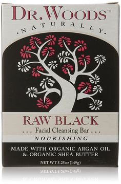 Dr. Woods Facial Cleansing Bar Soap with Organic Shea Butter, Raw Black, 5.25 Ounce >> See this awesome image  : Body Care