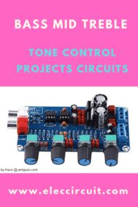 Today, I recommend a bass mid treble Tone control circuit using an op-amp. They include 3 circuits. We choose to use the as main, it is so an interesting IC. Because of the ultra-low noise properties. So often uses them… Electronic Circuit Projects, Electronic Engineering, Simple Electronics, Electronics Projects, Circuits Class, Electrical Circuit Diagram, Function Generator, Power Supply Circuit, Ab Circuit