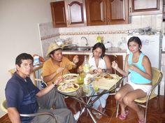 Izerguil, Mauriacio, Brenda y Gentian nuestros hijos en el Perú.
