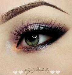 'Orange Line' makeup look by Alicja J Make Up using Makeup Geek's Corrupt eyeshadow.