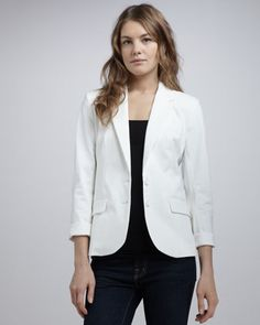 Cass Stretch-Cotton Blazer at CUSP.