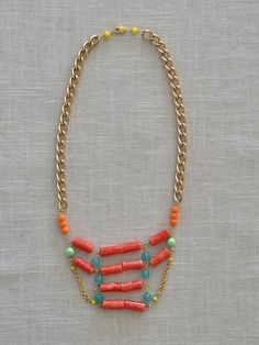 Balboa Jewelry- Coral Bars Necklace