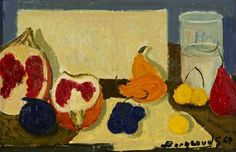 Georges Borgeaud - Les Grenades, 1969 - Huile sur toile, x 33 cm. Life Paint, Art For Sale, Modern Contemporary, Still Life, Grenades, Painting, Breakfast, Oil On Canvas, Paint