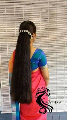 Long Bob Hairstyles, Indian Hairstyles, Ponytail Hairstyles, Girl Hairstyles, Beautiful Long Hair, Gorgeous Hair, Cut My Hair, Your Hair, Long Indian Hair