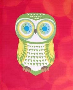 'Green Owl' from zazzle