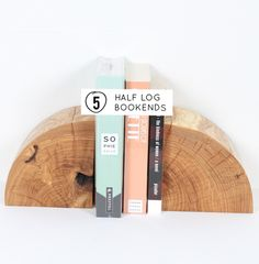 10 DIYs to try // Half log bookends